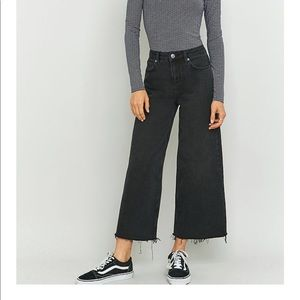 BDG Urban Outfitters wide leg soft black denim